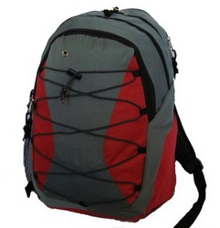 "Case of [24] 18"" Classic Bungee Backpack - Red"