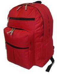 "Case of [24] 18"" Premium Multi-Pocket Backpack - Red"