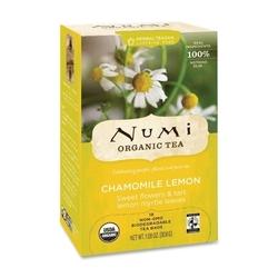 Case of [4] NUMI Organic Tea Herbal Tea, Organic, 18 Bags/BX, Chamomile Lemon