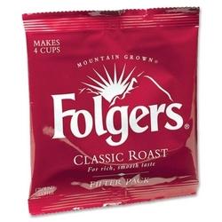 Case of [1] Folgers Coffee Filterpacks, Regular, 9 oz, 160/CT