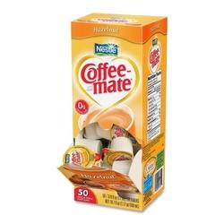 Case of [3] Nestle' USA Single-Serving Creamer, Hazelnut, .38 oz, 50/BX