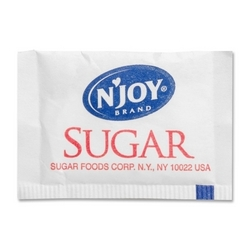 Case of [1] Sugar Foods Corp Pure Cane Sugar Packets, 1/10 oz Packets