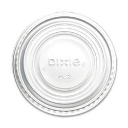 Case of [1] Dixie Foods Souffle Lids, 2 oz., 2400/CT, White