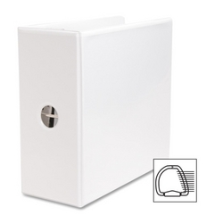 "Case of [3] Business Source D-Ring Binder, w/ Pockets, 5"" Capacity, White"