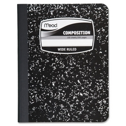 """Case of [14] Mead Composition Book,Wide Ruled,100 Sheets,7-1/2""""x9-3/4"""",Black"""