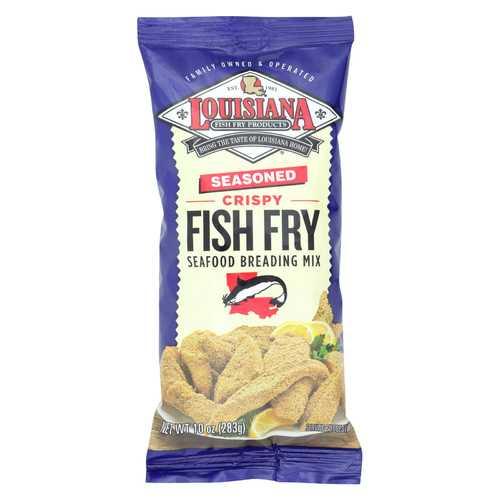 La Fish Fry Seasoned Crispy - Breading Mix - Case of 12 - 10 oz.
