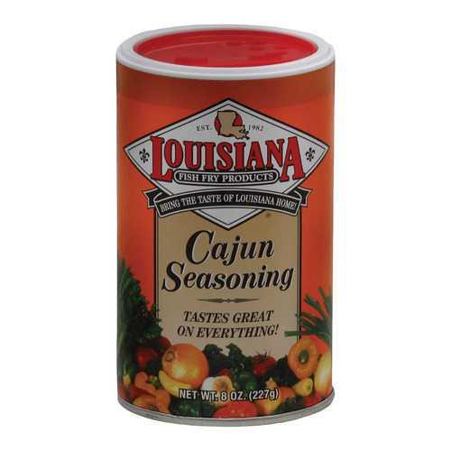 La Fish Fry Seasoning - Cajun - Case of 12 - 8 oz