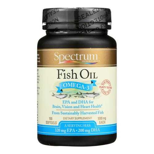Spectrum Essentials Omega-3 Fish Oil Dietary Supplement  - 1 Each - 100 CAP