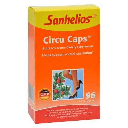 Sanhelios Circu Caps with Butcher's Broom and Rosemary - 96 Capsules