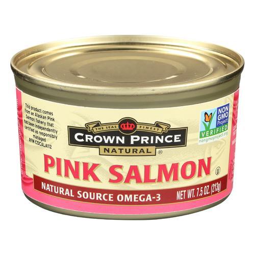 Crown Prince Alaskan Pink Salmon - Case of 12 - 7.5 oz.