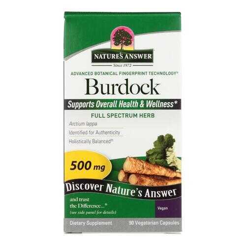 Nature's Answer - Burdock Root - 90 Vegetarian Capsules