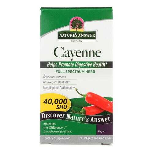 Nature's Answer - Cayenne Pepper Fruit - 90 Vegetarian Capsules