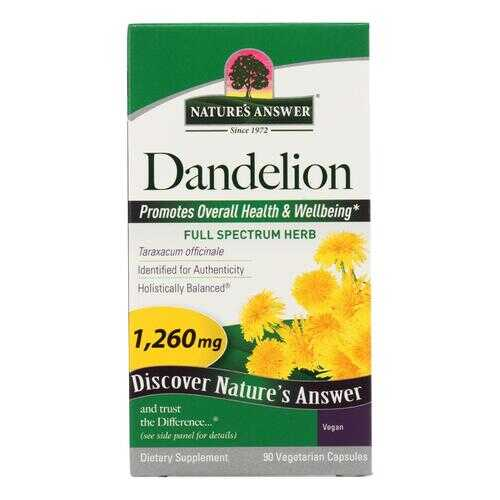 Nature's Answer - Dandelion Root - 90 Vegetarian Capsules