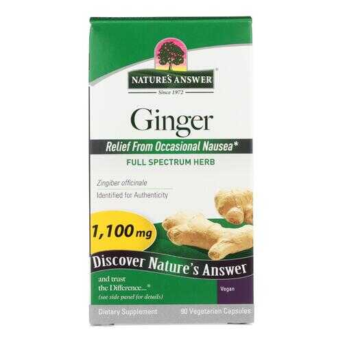 Nature's Answer - Ginger Rhizome - 90 Vegetarian Capsules