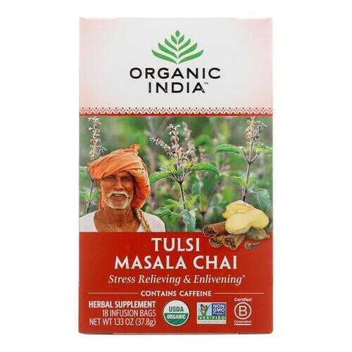 Organic India Tulsi Tea Chai Masala - 18 Tea Bags - Case of 6