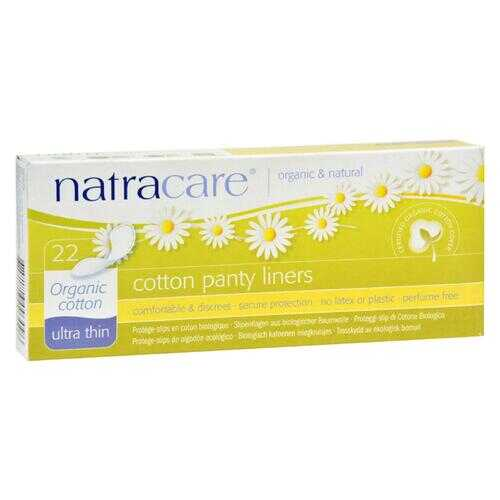 Natracare Ultra Thin Organic Cotton Panty Liners - 22 Pack