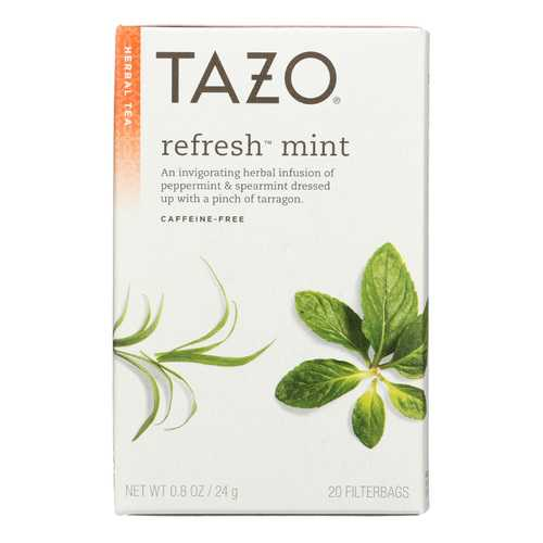 Tazo Tea Herbal Tea - Refreshing Mint - Case of 6 - 20 BAG