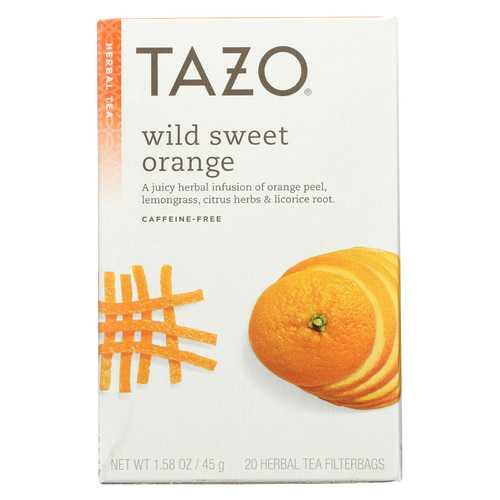 Tazo Tea Herbal Tea - Wild Sweet Orange - Case of 6 - 20 BAG