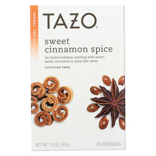Tazo Tea Herbal Tea - Sweet Cinnamon Spice - Case of 6 - 20 BAG