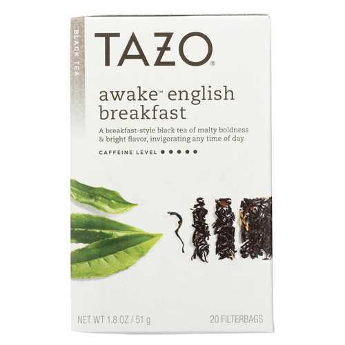 Tazo Tea Hot Tea - Awake English Breakfast Black Tea - Case of 6 - 20 BAG