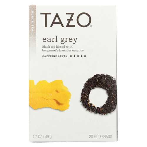 Tazo Tea Scented Black Tea - Earl Grey - Case of 6 - 20 BAG