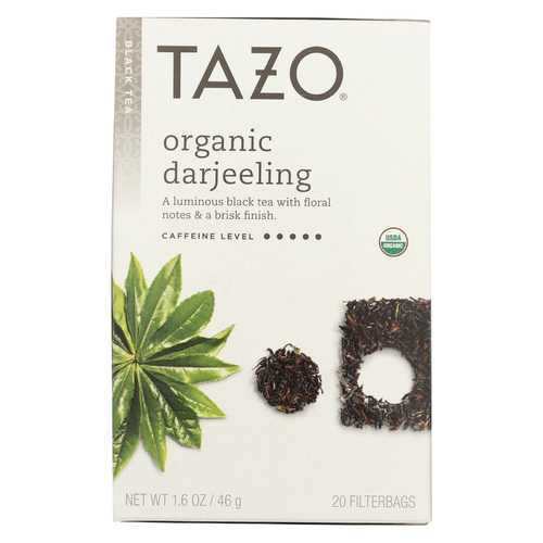 Tazo Tea Organic Tea - Darjeeling - Case of 6 - 20 BAG