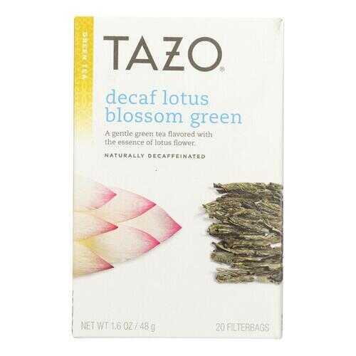 Tazo Tea Lotus Green Tea - Decaffeinated - Case of 6 - 20 BAG