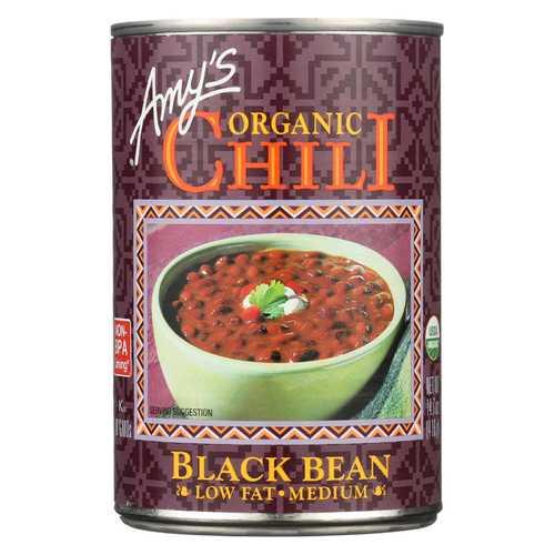 Amy's Organic Medium Black Bean Chili - Case of 12 - 14.7 oz
