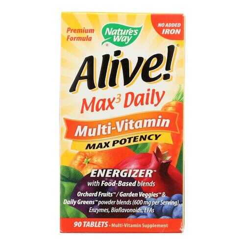 Nature's Way Alive Multi-Vitamin No Iron Added - 90 Tablets