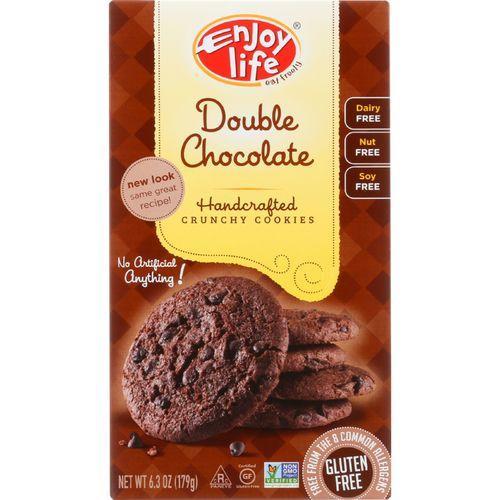 Enjoy Life Cookie - Crunchy - Double Chocolate - Gluten Free - 6.3 oz - case of 6