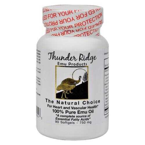 Thunder Ridge 100% Pure Emu Oil - 750 mg - 90 Softgels