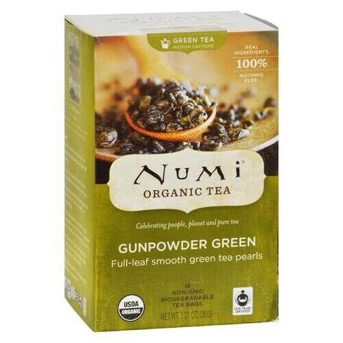 Numi Gunpowder Green Tea - 18 Tea Bags - Case of 6