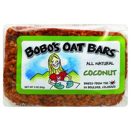 Bobo's Oat Bars - All Natural - Coconut - 3 oz Bars - Case of 12