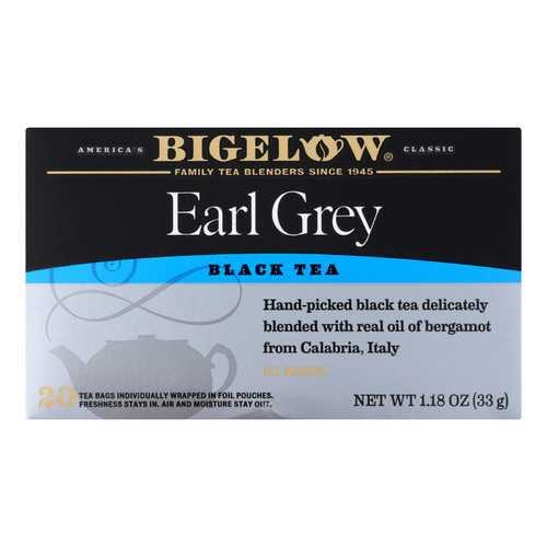 Bigelow Tea Earl Grey Black Tea - Case of 6 - 20 Bags