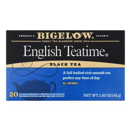 Bigelow Tea English Teatime Black Tea - Case of 6 - 20 Bags