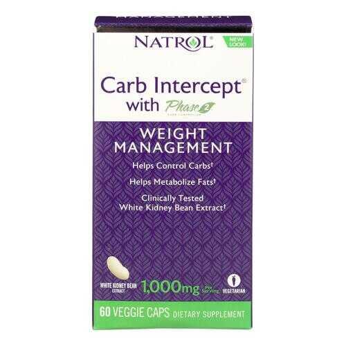Natrol White Kidney Bean Carb Intercept - 60 Capsules