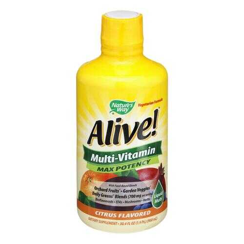 Nature's Way - Alive! Multi-Vitamin - Max Potency - Citrus - 30 fl oz.