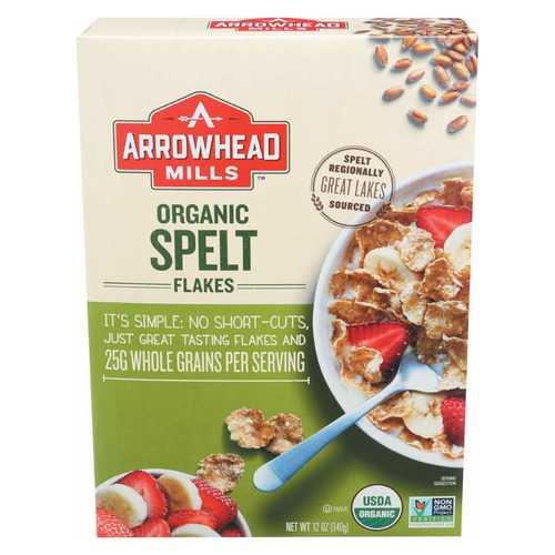 Arrowhead Mills Organic Spelt Flakes - Case of 12 - 12 oz.