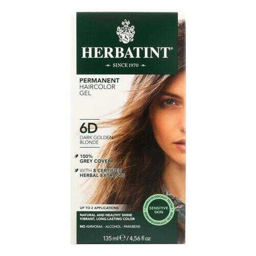 Herbatint Permanent Herbal Haircolour Gel 6D Dark Golden Blonde - 135 ml