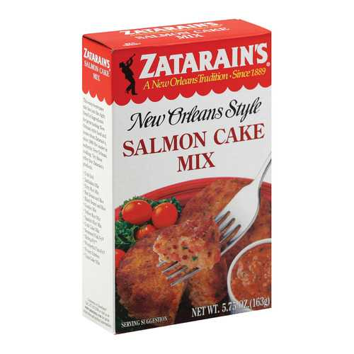 Zatarain's Mix - Salmon Cake - Case of 12 - 5.75 oz