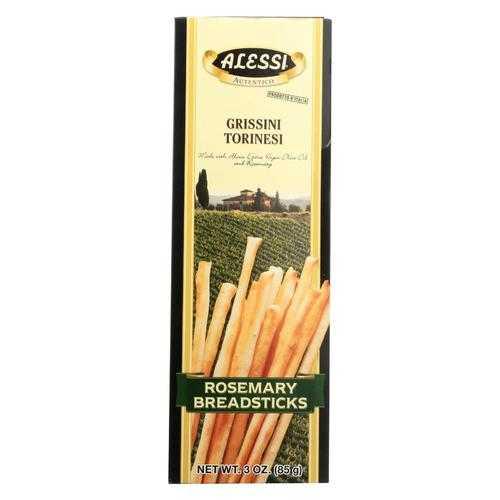 Alessi Breadsticks Rosemary - Case of 3 - 3 oz.