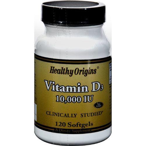Healthy Origins Vitamin D3 - 10000 IU - 120 Softgels