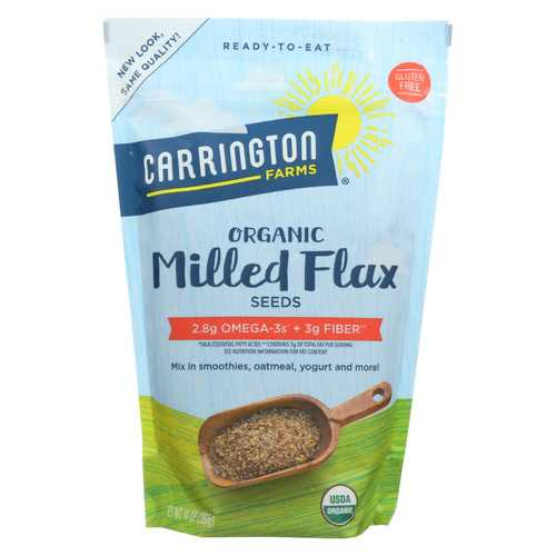 Carrington Farms Organic Milled Flax Seeds - Linaza Molida - Case of 6 - 14 oz