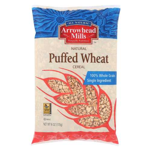 Arrowhead Mills - Puffed Wheat Cereal - Case of 12 - 6 oz
