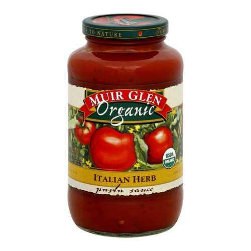 Muir Glen Pasta Sauce, Italian Herb - Pasta - Case of 12 - 25.5 Fl oz.