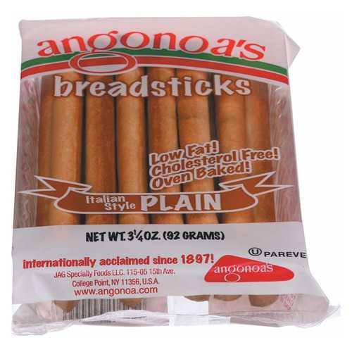 Angonoa's Plain Breadsticks - Case of 12 - 3.25 oz