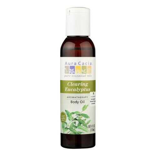 Aura Cacia - Aromatherapy Bath Body and Massage Oil Eucalyptus Harvest - 4 fl oz
