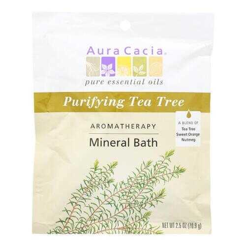 Aura Cacia - Aromatherapy Mineral Bath Tea Tree Harvest - 2.5 oz - Case of 6