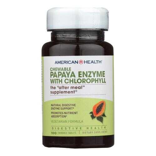 American Health - Papaya Enzyme with Chlorophyll Chewable - 100 Chewable Tablets
