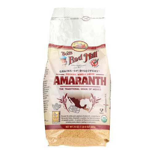 Bob's Red Mill Organic Whole Grain Amaranth - 24 oz - Case of 4